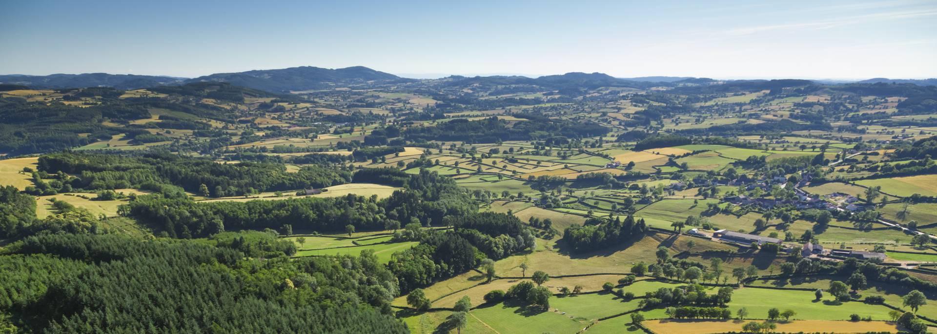 Paysages du Charolais entre Suin et Charolles. © DSL, Aurélien Ibanez.