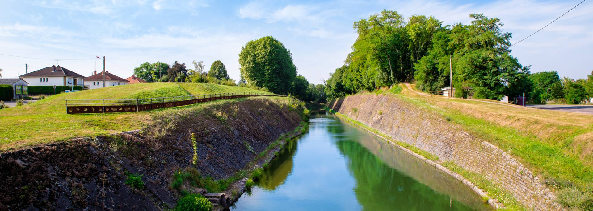 La tranchée du canal, Génelard. © Franck Juillot.
