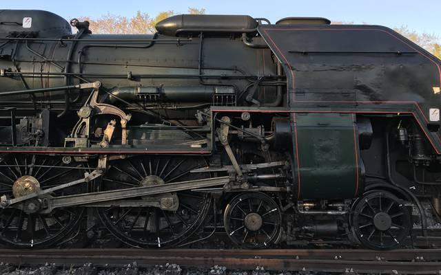 Détail de la locomotive à vapeur 241 P 17, Le Creusot. © Creusot Montceau Tourisme.