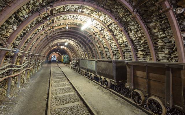 Au fond de la galerie du Musée de la Mine, Blanzy. © Xavier Spertini.