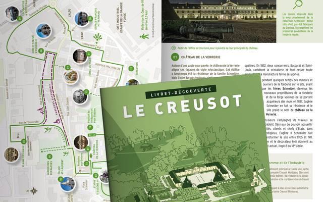Aperçu du livret de visite du Creusot. © Creusot Montceau Tourisme.