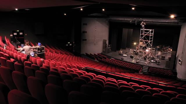 Vue depuis la régie du grand théâtre de L'arc © L'arc scène nationale, Stéphana Vallet.