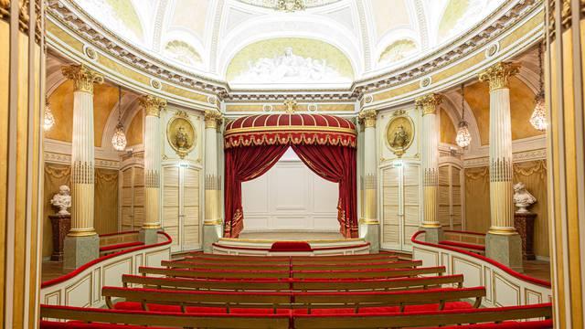Petit Théâtre de la Verrerie, Le Creusot, vue générale de la salle. © Xavier Spertini.