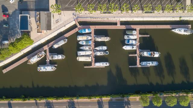 Port de plaisance de Montceau-les-Mines. © Xavier Spertini.