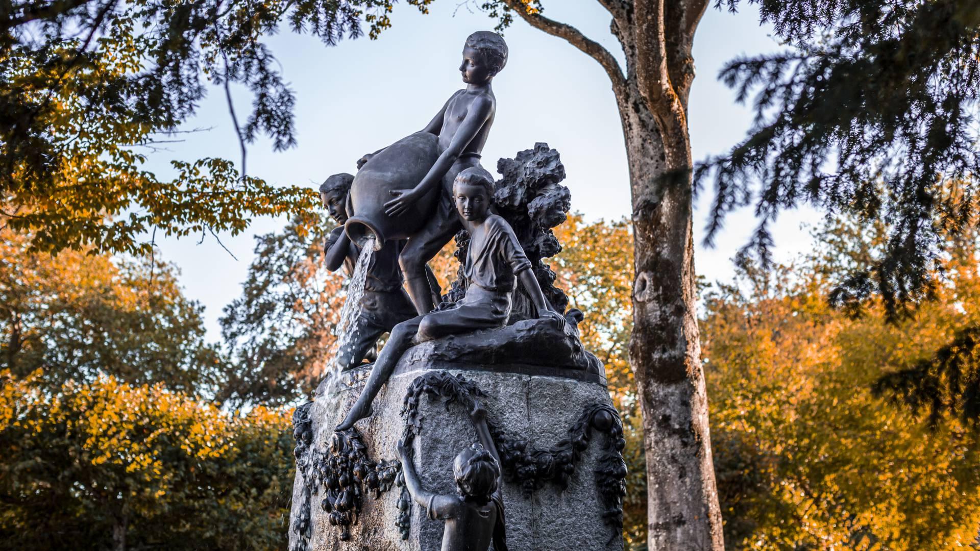 Fontaine dans le parc de la Verrerie. © Lelsey Williamson.