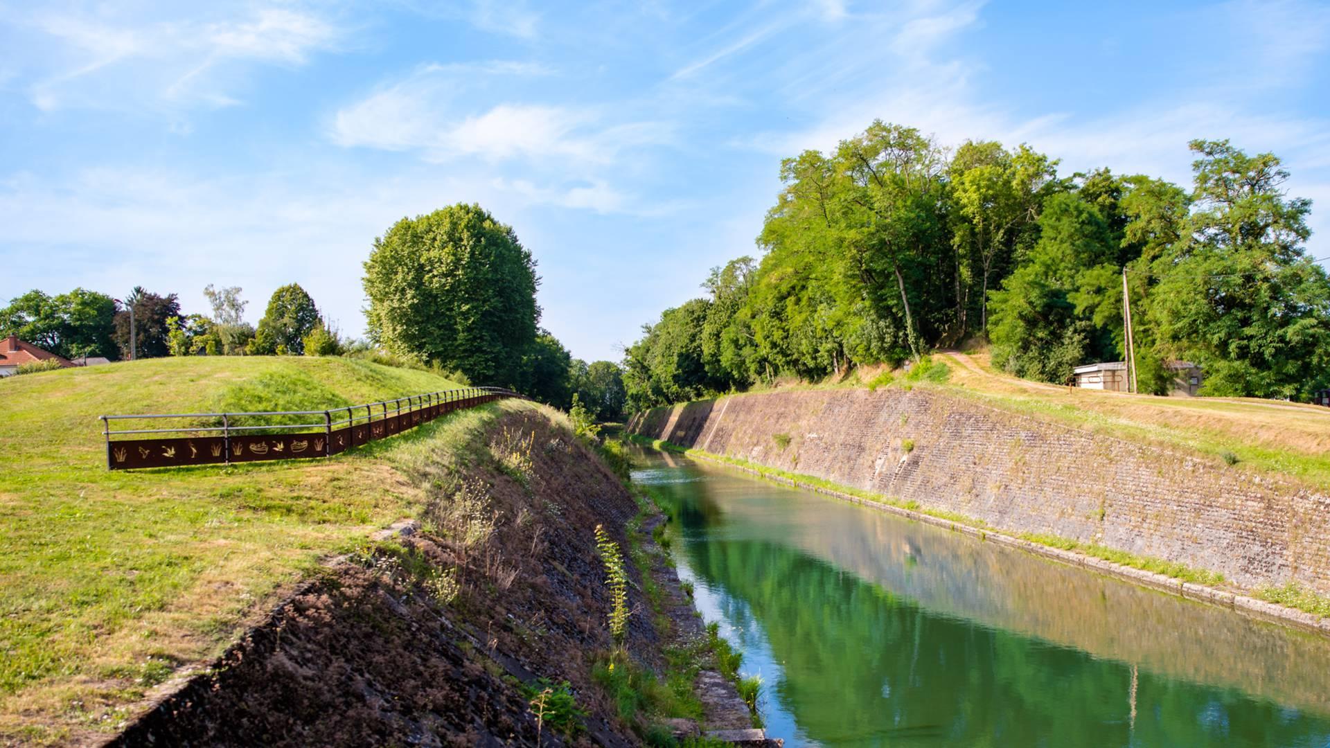 La tranchée du canal du Centre, Génelard. © Franck Juillot.