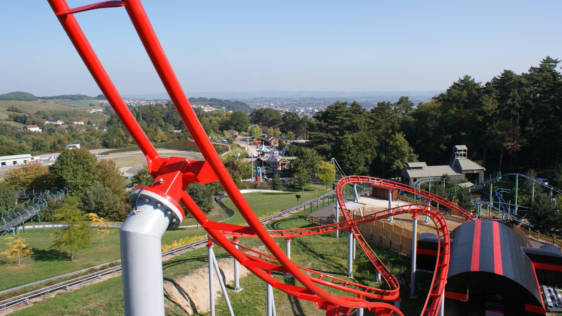 Du haut du Boomerang au Parc des Combes, Le Creusot. © Parc des Combes.