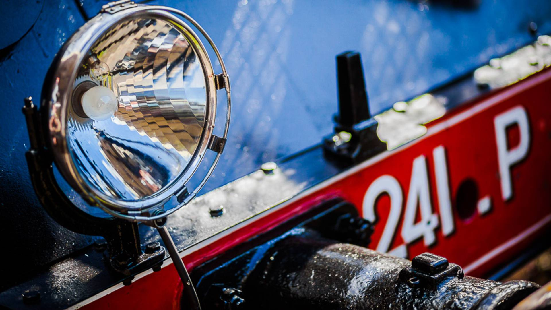 Détail de la locomotive 241 P 17, Le Creusot. © Chemins de Fer du Creusot.