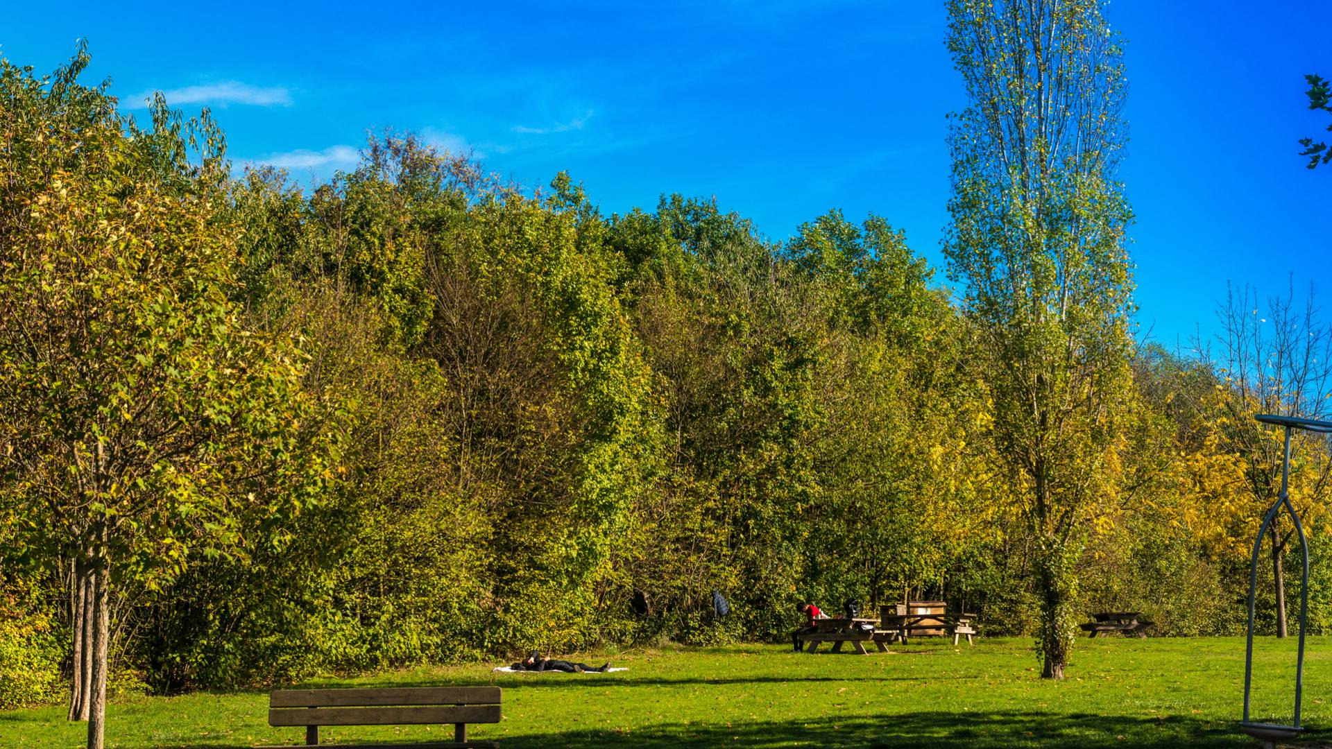 Farniente dans le parc Maugrand, Montceau-les-Mines. © Oscara Photographe_Creusot Montceau Tourisme.
