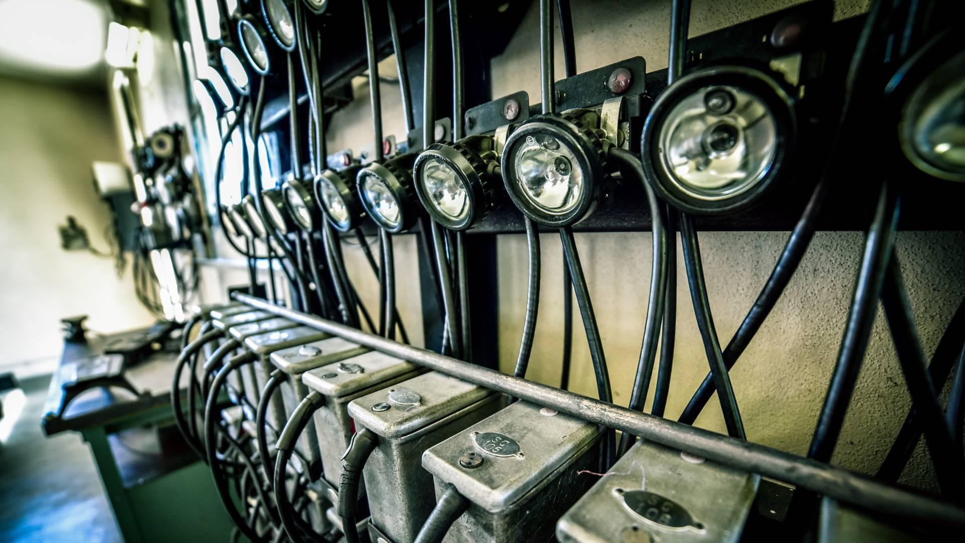 Détails de la lampisterie du Musée de la Mine, Blanzy. © Franck Juillot.