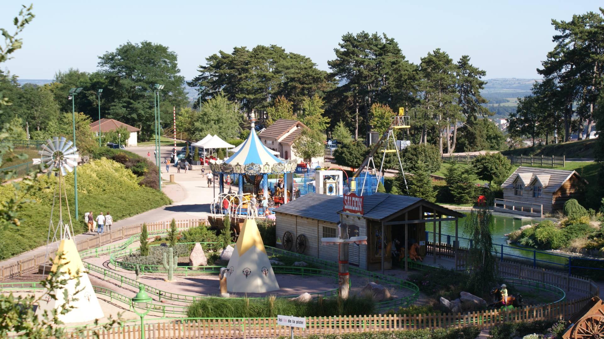 Vue générale du Parc des Combes, Le Creusot. © Parc des Combes.