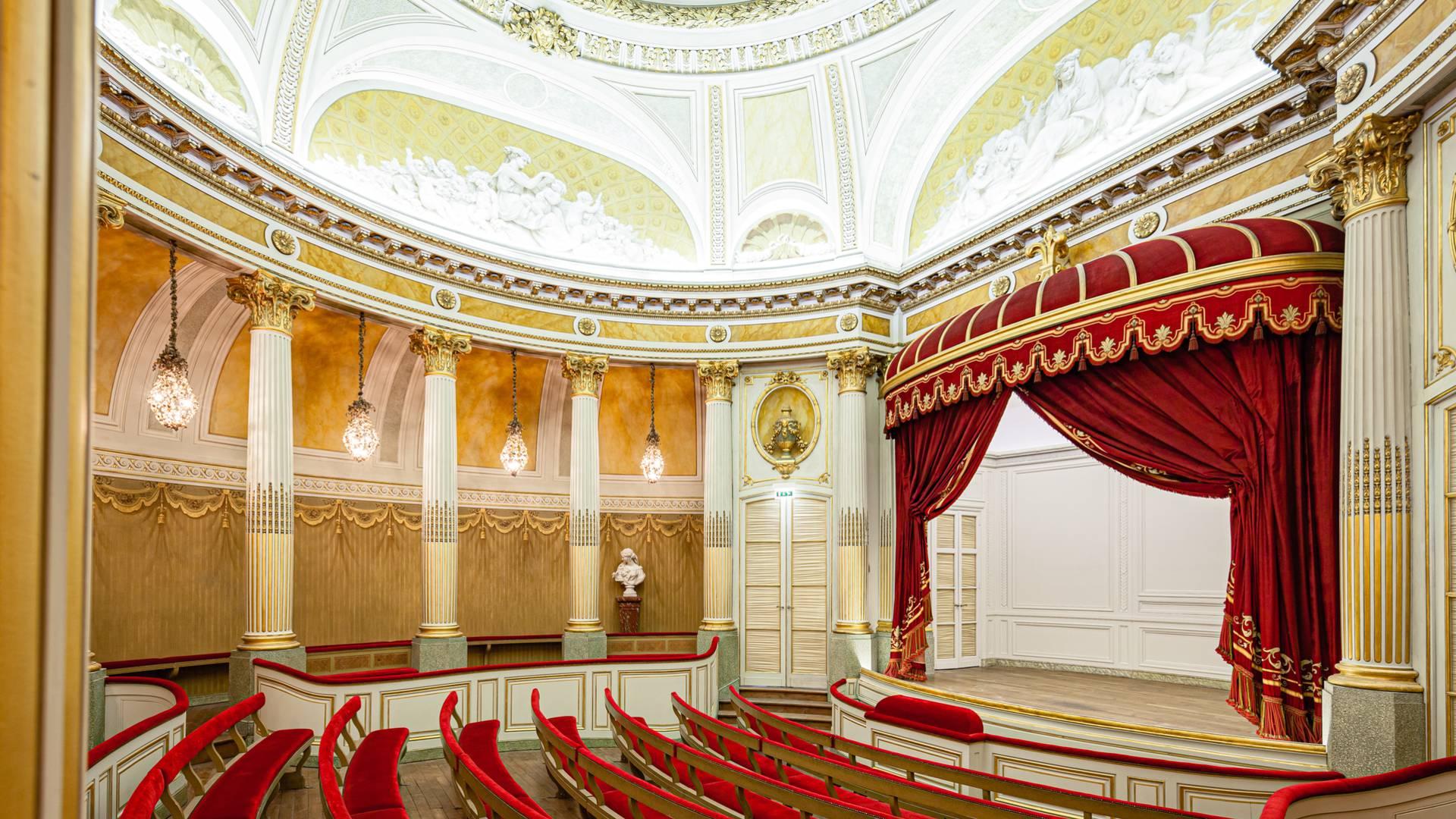 Vue générale du Petit Théâtre du château de la Verrerie, Le Creusot. © Xavier Spertini.