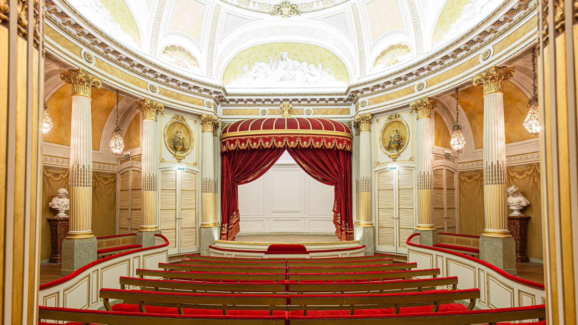 Le Petit Théâtre du château de la Verrerie, Le Creusot. © Xavier Spertini.
