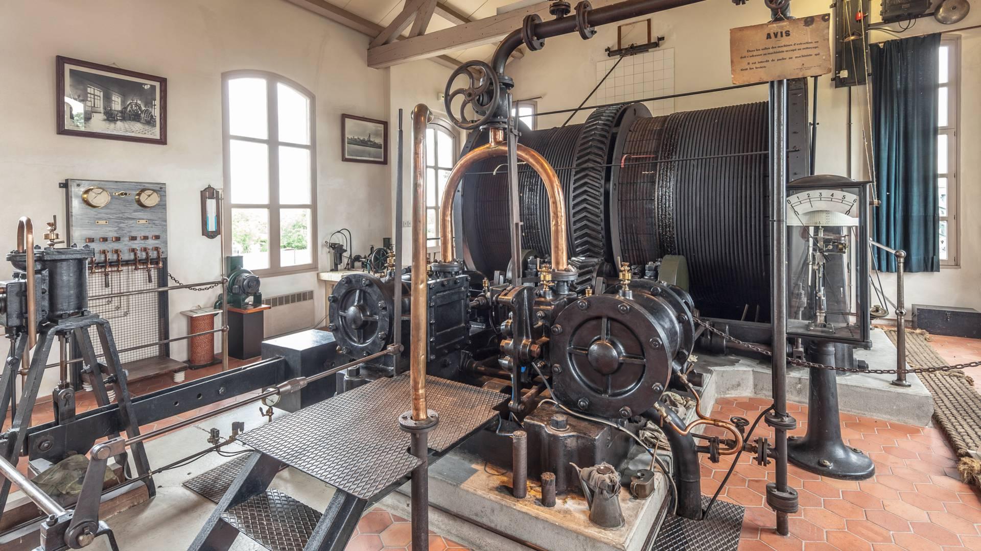 La salle des machine du Musée de la Mine, Blanzy. © Xavier Spertini.
