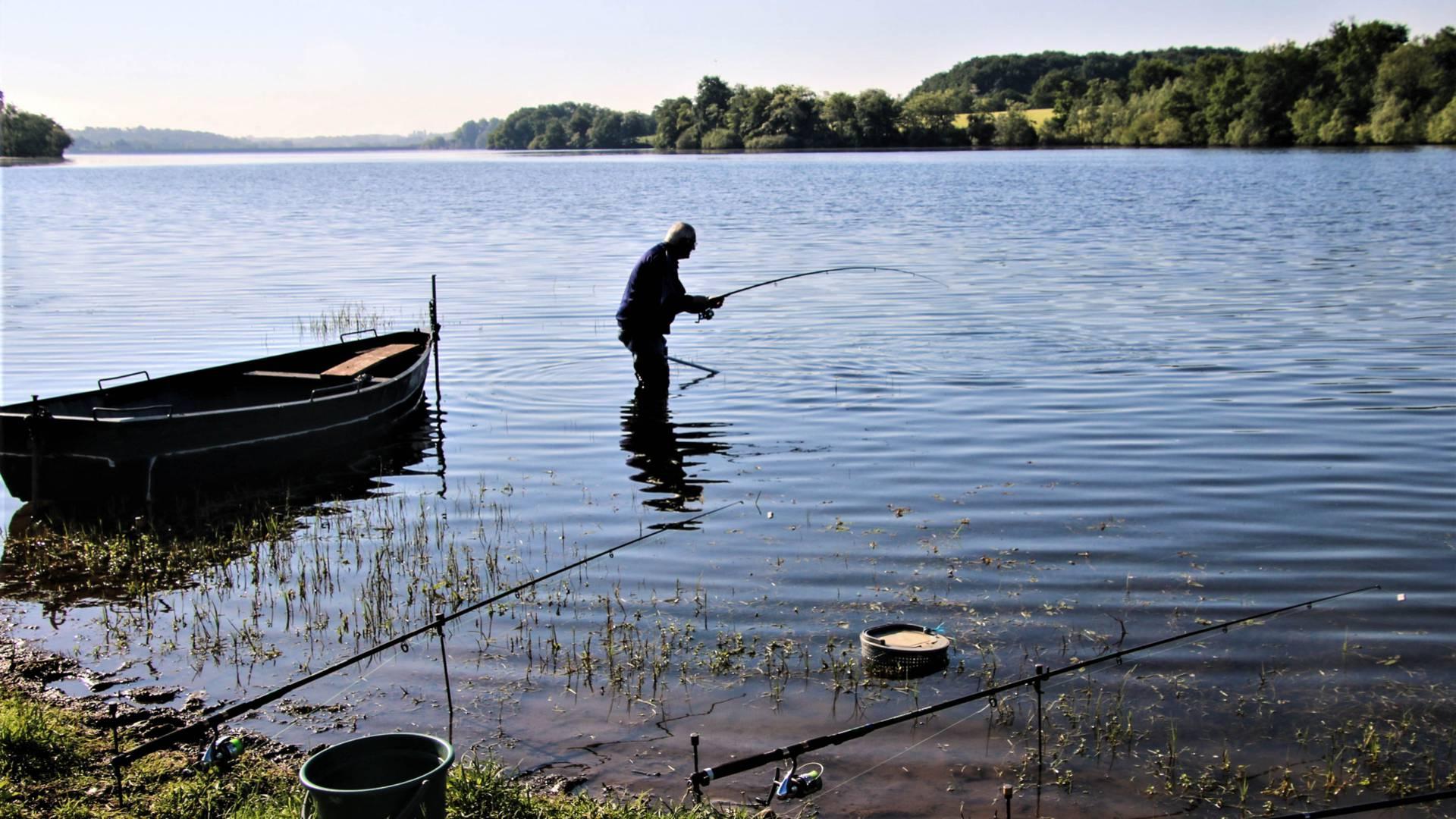 Le coin idéal pour la pêche. © Lesley Williamson.