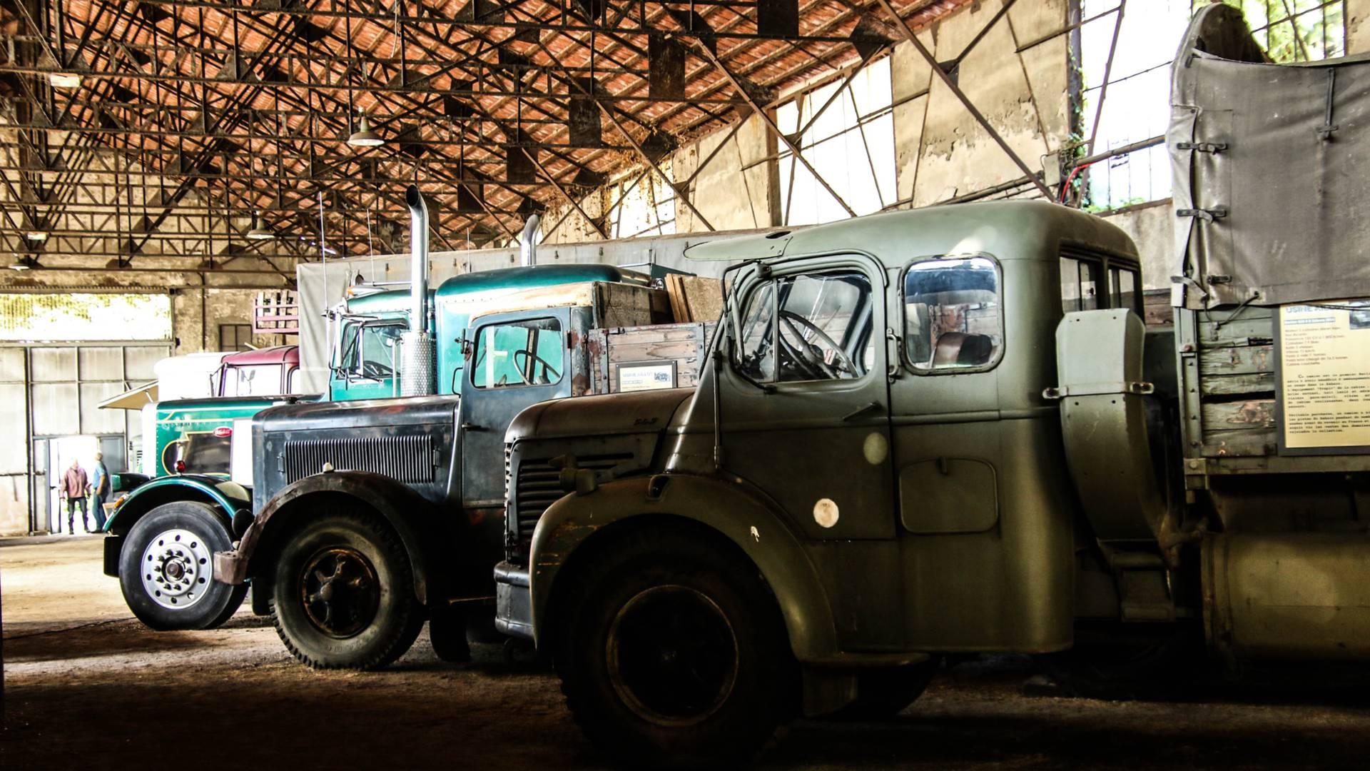 Dans la Galerie du camion ancien. © Lesley Williamson.