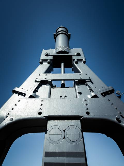 Détail du marteau-pilon, Le Creusot. © Franck Juillot.