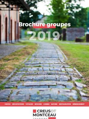 Brochure groupes 2019. © Creusot Montceau Tourisme.