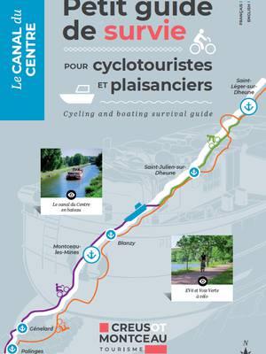 Couverture du guide du canal. © Creusot Montceau Tourisme.