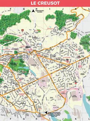 Aperçu du plan du Creusot. © Creusot Montceau Tourisme.