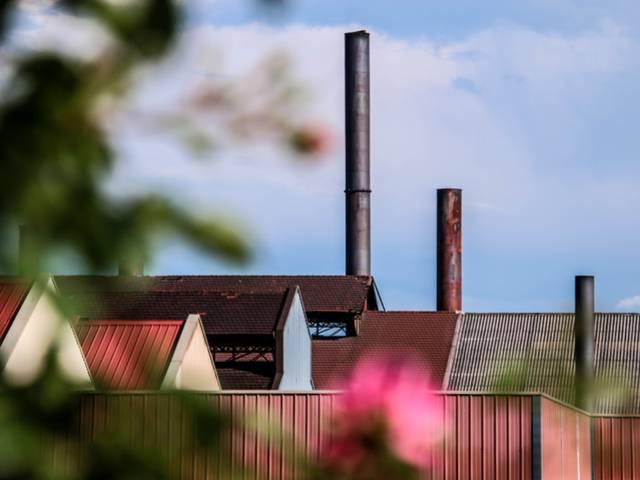 Vue actuelle du site industriel du Creusot. © Lesley Williamson.