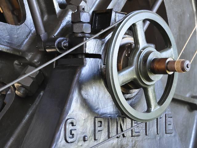 Détail d'une machine du Musée de la Mine, Blanzy. © Ville de Blanzy.