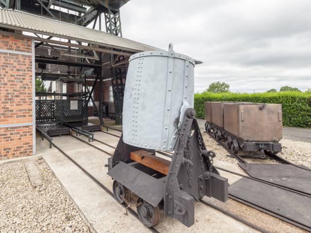 Wagonnets au Musée de la Mine, Blanzy. © Xavier Spertini.
