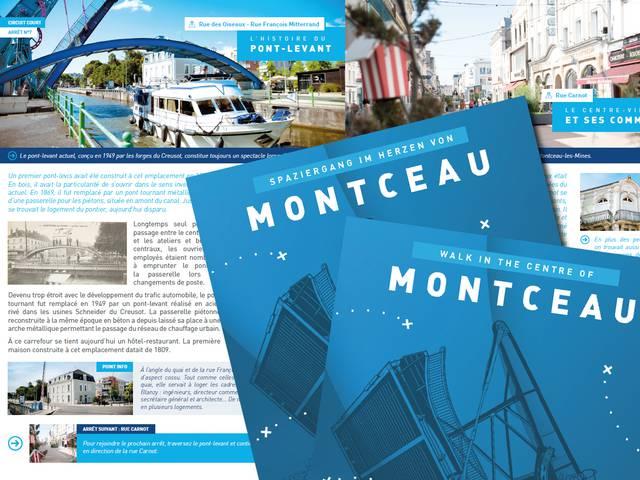 Aperçu de la brochure Promenade au coeur de Montceau. © Creusot Montceau Tourisme.