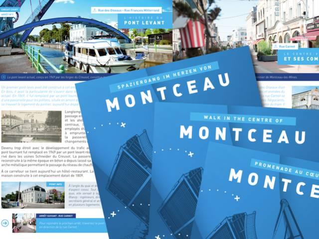 Aperçu de la brochure Promenade au cœur de Montceau. © Creusot Montceau Tourisme.