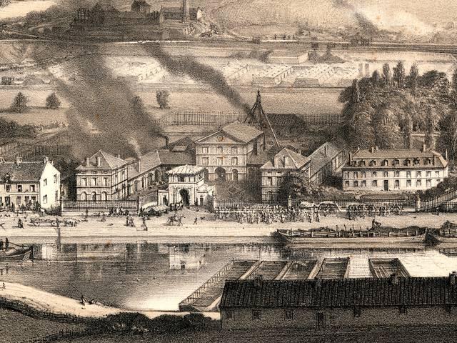 La maison d'administration et les ateliers des Mines de Blanzy, au Montceau (aujourd'hui Montceau-les-Mines). © CUCM, service écomusée, cliché D. Busseuil.