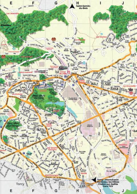 Aperçu du plan du Creusot. @Creusot Montceau Tourisme.