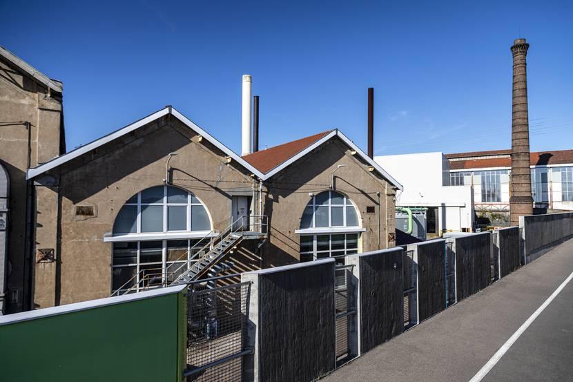 Le Creusot, site industriel de l'Espace Magenta. © Lesley Williamson.