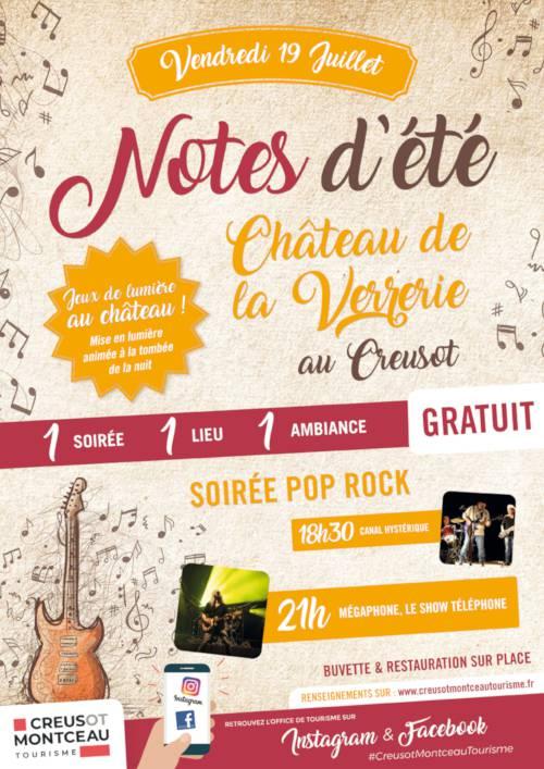 Notes d'été au Creusot le 19 juillet. © Creusot Montceau Tourisme.