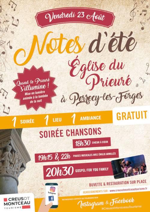 Notes d'été à Perrecy le 23 août. © Creusot Montceau Tourisme.