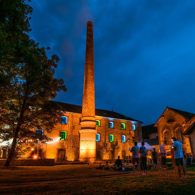 Mise en lumière à la Briqueterie, Ciry-le-Noble. © Franck Juillot - Creusot Montceau Tourisme.