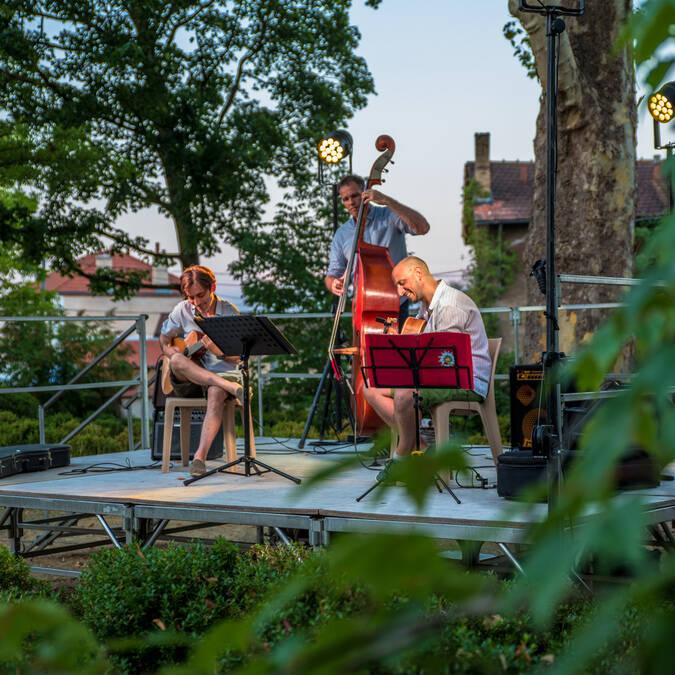 Concert jazz à la Villa Perrusson, Écuisses. © Franck Juillot - Creusot Montceau Tourisme.