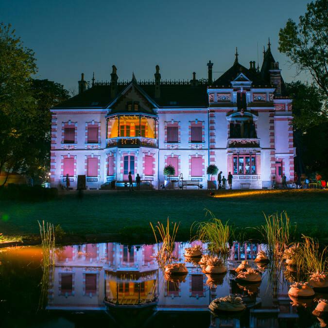 Mise en lumière à la Villa Perrusson, Écuisses. © Franck Juillot - Creusot Montceau Tourisme.