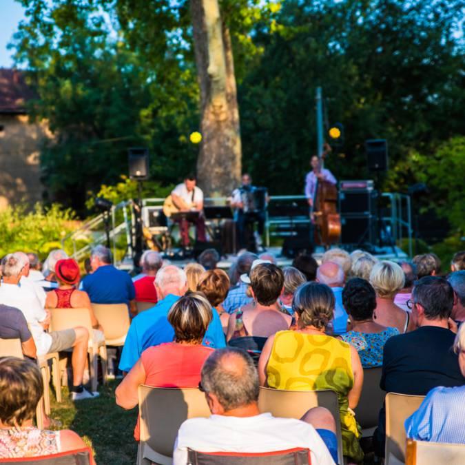 Concert à la Villa Perrusson, Écuisses. © Franck Juillot - Creusot Montceau Tourisme.