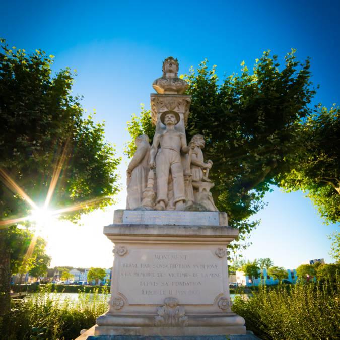 Monument aux victimes de la mine, Montceau-les-Mines. © Franck Juillot_Creusot Montceau Tourisme.