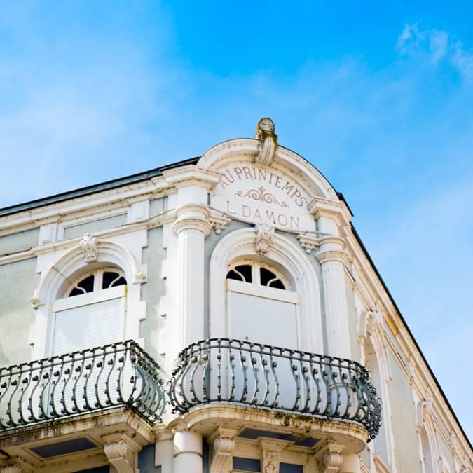 Détail d'une façade, Montceau-les-Mines. © Franck Juillot_Creusot Montceau Tourisme.