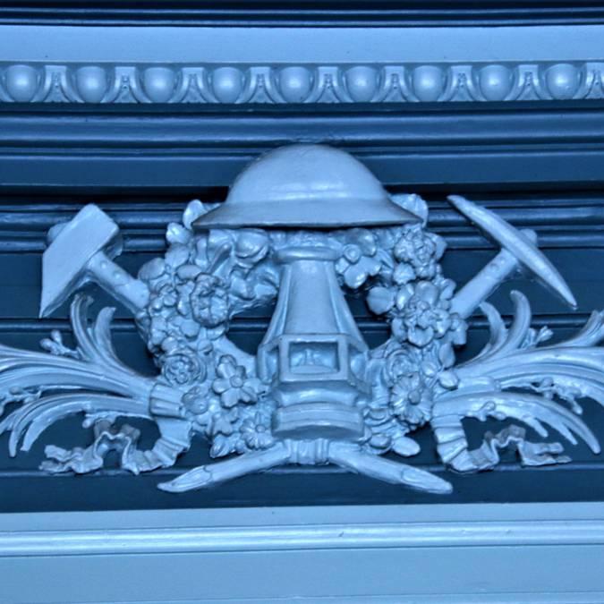 Détail d'un décor à l'intérieur de la maison du syndicat. © Lesley Williamson.