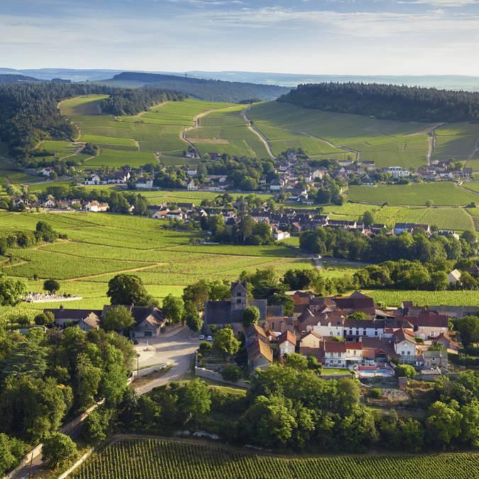 Le village de Mercurey en Côte Chalonnaise. © Destination Saône-et-Loire, Arélien Ibanez.