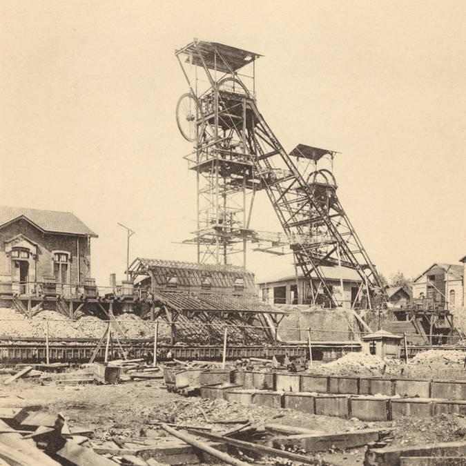 Le puits Magny en 1903. © CUCM, service écomusée, reproduction D. Busseuil.